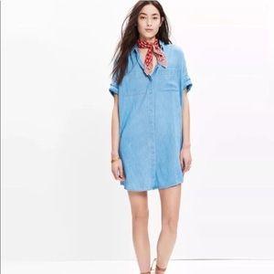 Madewell Denim Courier Chambray Shirt Dress XS